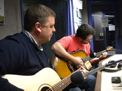 Karl and Kieran (mikecogh) Tags: music musicians studio live program scala guitarists songcatcher radioadelaide thespecialks