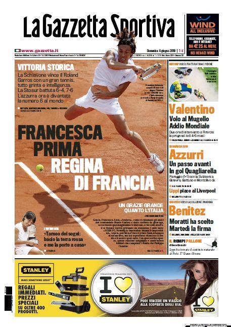 La Gazzetta Sportiva - Francesca Schiavone