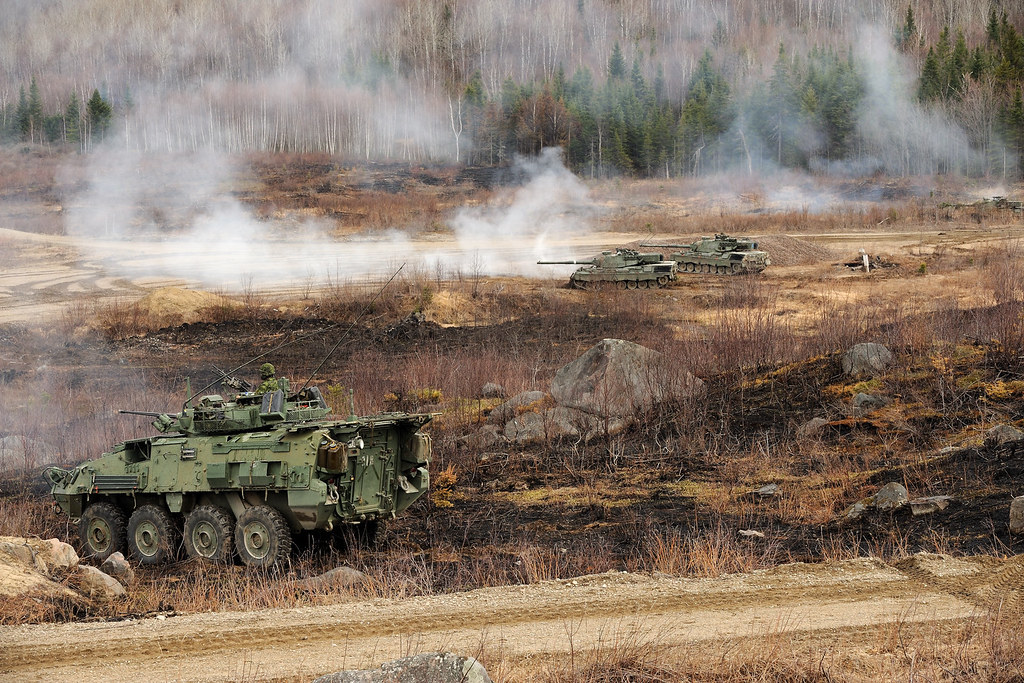 Les troupes du 12 RBC s'exerce au tir réel /  12 RBC troops take part in a live fire exercise