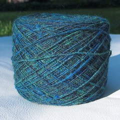 Corriedale/Mohair spun for Heifer International raffle