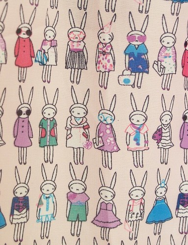 121/365 - Rabbit print dress