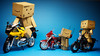 "067/365:  ""We Haven't Ridden Our Bikes In A Long While."" (Randy Santa-Ana) Tags: toys ride harleydavidson motorcycle danbo gf1 project365 bmwr1100s danboard minidanboard minidanbo 365daysofdanbo hondabcr1000r"