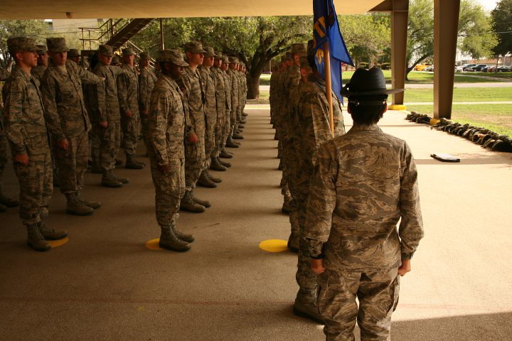 Lackland TX Air Force Boot Camp. Picture taken by a member of Air Force Moms Support group on Facebook.com