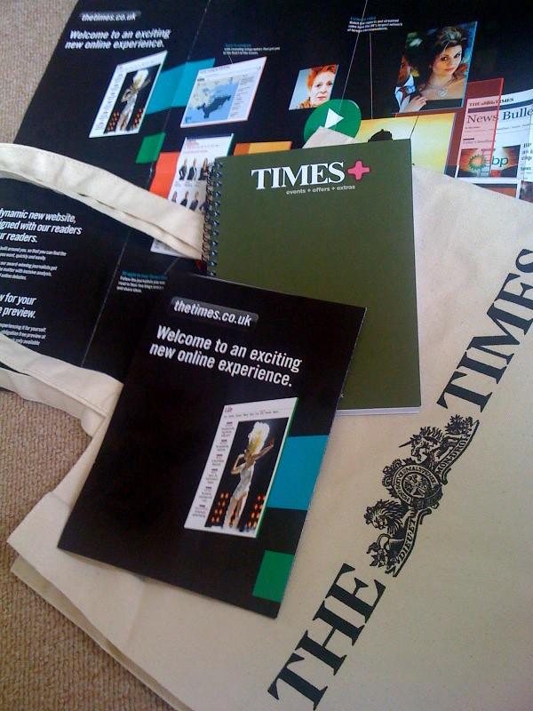 Times promo bag