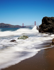 Here In Frisco (Jinna van Ringen) Tags: sanfrancisco california sea bw usa seascape water canon photography coast rocks waves ringen seacliff goldengatebridge shore chinabeach elusive states van jorinde jinna nd106 elusivephoto elusivephotography 5dmarkii jorindevanringen jinnavanringen