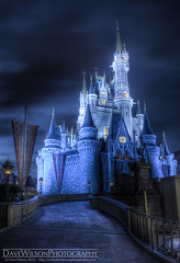 Cinderella's Castle (Spooky Remix) (DaveWilsonPhotography) Tags: castle night florida disney fl waltdisneyworld hdr magickingdom eenight cooliris d700