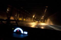 Da 52 - Volviendo a casa (-picho-) Tags: road motion reflection car contrast speed lights luces calle camino pavement tunnel movimiento reflejo contraste tunel velocidad stree automvil pavimento speedmeter velocmetro