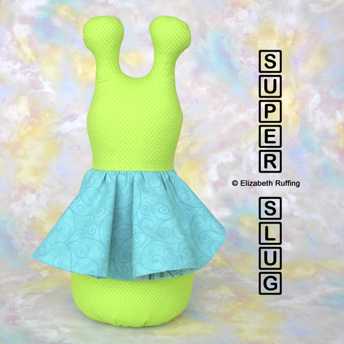Bright light green 12 inch Super Slug by Elizabeth Ruffing