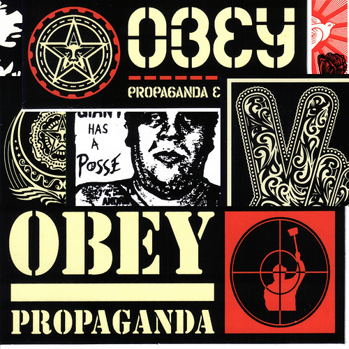 Shepard Fairey vinyl stickers