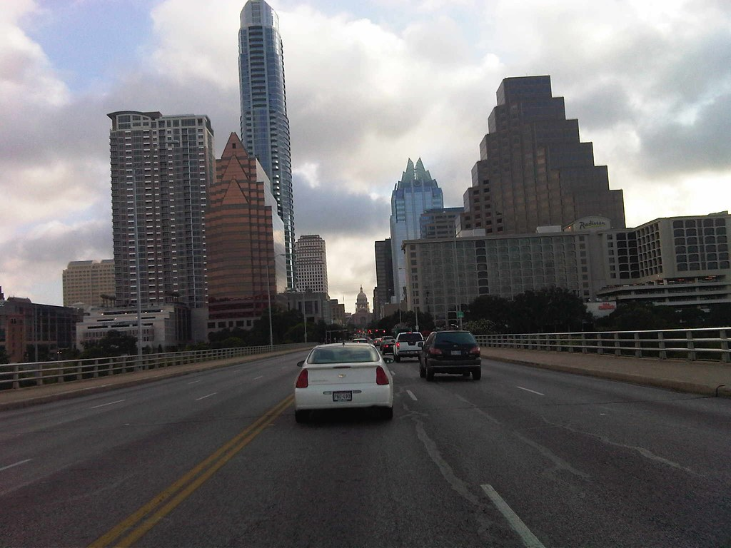 Austin through the windshield
