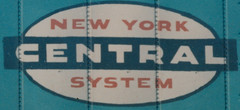 New York Central Railroad cigar band logo. Used from the late 1950's until the 1968 merger with the Pennsylvania Railroad that created the Penn Central Railroad. From the internet.