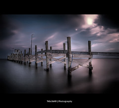 Here too... (Feo David) Tags: sunset sky usa sun water clouds america canon dark island eos pier fishing long exposure texas unitedstates tx ciel filter 5d nuage nuages hoya portarthur etatsunis nd400 plaisure amerique