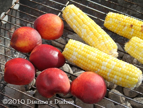 Peaches and Corn Grilling