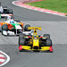 2nd Lap: Kubica leads a train of cars including Sutil and Schumacher (2010 Montreal GP)
