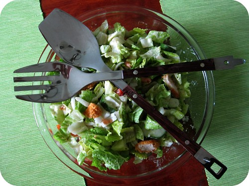 salad serving fork and spoon
