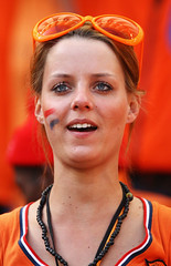 Netherlands fan enjoys