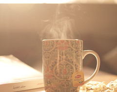 [ 7 \ 45 ] (Ebtesam.) Tags: sunlight 35mm book tea mug abdullah nikond40x ebtesam