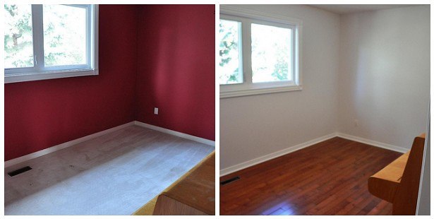 Guest room - before and after