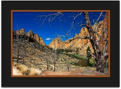 Crooked River (ScenicScapes) Tags: travel mountain mountains beauty oregon centraloregon landscape scenery pacific northwest framed scenic highdesert frame rockclimbing smithrock scenics specnature absolutelystunningscapes photoscenics