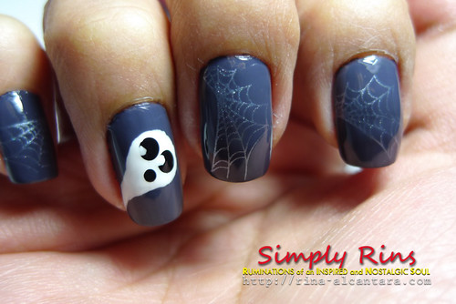 Nail Art Halloween Ghost 03