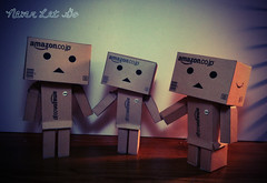 Never Let Go (AnakMoon) Tags: family never go aliens cardboard figure let 3gs iphone danbo danboard danboy