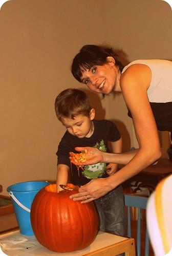 Mama & Arlin- pumpkin time