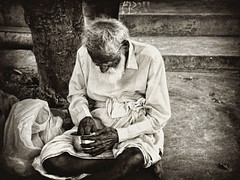 Old and homeless (++ i ++) Tags: world poverty food streets cold lunch poor hunger roadside dying apathy indifference