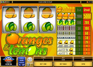 Oranges and Lemons slot game online review