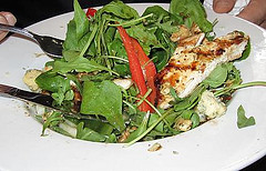 Mill Street Brewpub's Arugula Salad with Grilled Chicken