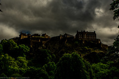 Edinbugh Castle with changing weather Conditions during the Day ..