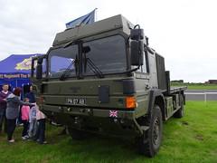 British Army MAN Support Vehicle, EGAD, September 2015 (nathanlawrence785) Tags: psni police car audi antrim giro ditalia gran fondo 2014 british army man sv crane jcb logistics wmik