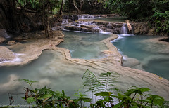 Kuang Si Waterfalls (clayhaus) Tags: laopeopledemocraticrepublic pdr asia clayhausnet clayhausphotography indochina karst laos laotian limestone luangprabang photography southeast travel waterfalls
