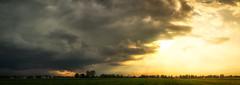 Good vs Evil (HFF) (der_peste) Tags: sky skyscape clouds cloudporn sunset sundown sonnenuntergang licht gegenlicht farben abendhimmel dusk landscape rural bavaria fence hff happyfencedfriday sonya7m2 panorama 50mm