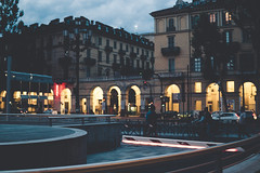 TurIntoDarkness (lanevegianluca) Tags: people torino architectur album sony a6000 night street photography sigma lowkey blue italia italy notte sera path