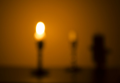 Blurred Candles with Shadow