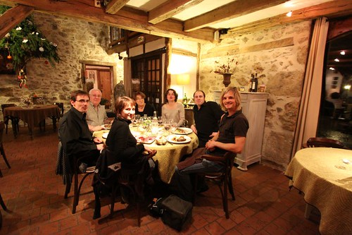 Wonderful birthday dinner (Alex) at the Restaurant Le Roc Du Boeuf in Rochechouart, France.