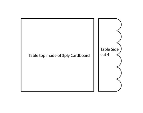 How To- Cardboard Play Table