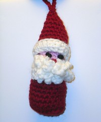 Santa ornament for Clover