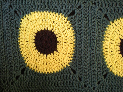 sunflower afghan2