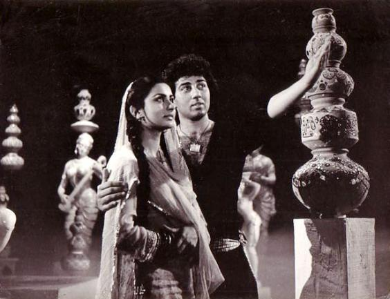 Poonam Dhillon with Sunny Deol