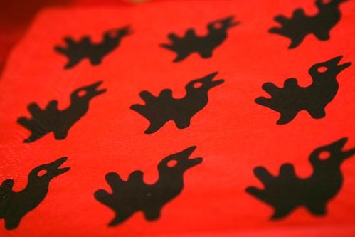 Funny xmas serviette