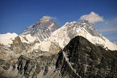 Everest and Lhotse (Leonid Plotkin) Tags: nepal mountain mountains nature landscape asia himalaya khumbu everest lhotse gokyo gokyori khumburegion