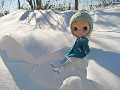 Chloe in snow