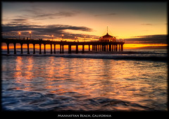 Manhattan Beach Pier (szeke) Tags: ocean california sunset usa beach clouds landscape pier muelle us losangeles unitedstates pacific processing manhattanbeach 2009 hdr photomatix nikcolorefex imagenomic thebestofday gnneniyisi nikviveza
