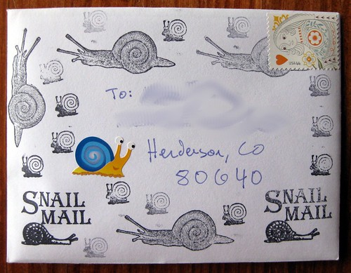 Snail Mail envelope swap