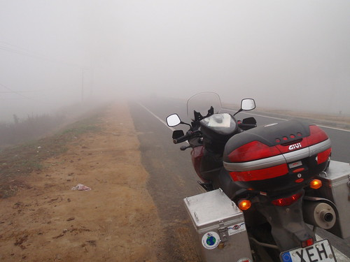 fog on the way to Delhi