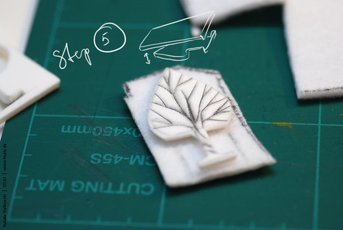 Felt and sponge rubber stamp