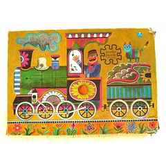 Vintage train jigsaw puzzle (Wooden donkey) Tags: train vintage puzzle jigsaw van alfons heusden