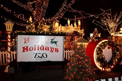 Happy Holidays from Stoneham Zoo (lehcar1477) Tags: christmas decorations castle happy zoo lights holidays santas time massachusetts lit stoneham zoolights santascastle