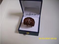 Con  Alambre en marrn (INDI-MARIA) Tags: anillos
